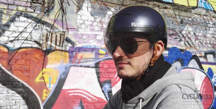 Photo du casque KASK Urban Lifestyle avec sa visière